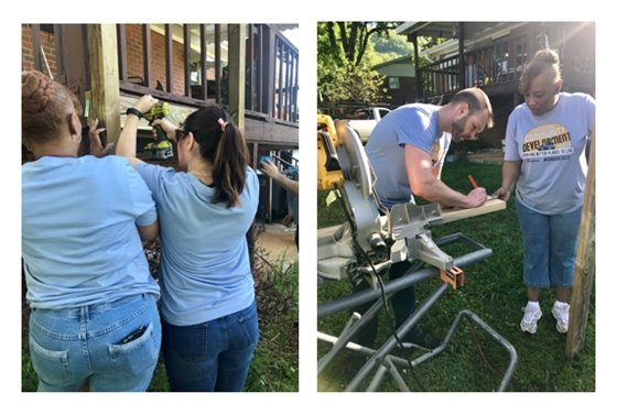 Community Development Staff volunteer with Rebuild Upstate