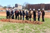 City leaders and officials break ground at the site of the Preserve at Logan Park