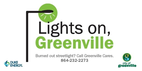Lights on Greenville Graphic