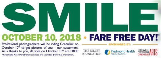 October 10 - Fare Free Day