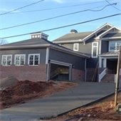 home construction in a Greenville neighborhood