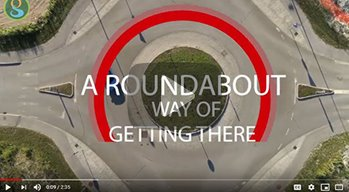 aerial view of a Roundabout with words A Roundabout Way of Getting There