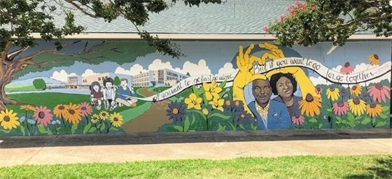 Juanita Butler Community Center mural