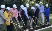Genesis Homes staff and City of Greenville staff and officials break ground