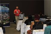 Michael Williamson, Community Development Project Manager, presents at homeownership event