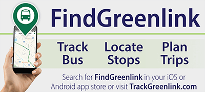 Image of poster promoting the FindGreenlink app