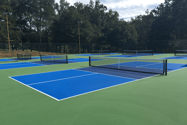 image of newly resurfaced pickleball courts