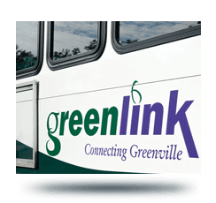view of the side of a Greenlink bus