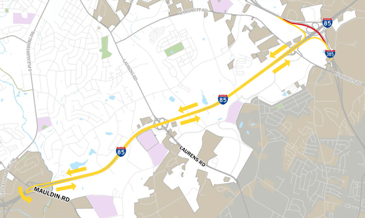 Map Of I 85 Georgia.Greenville Sc Official Website Official Website