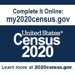 Complete the census online at 2020census.gov