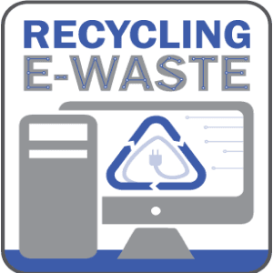 Ewaste recycling icon