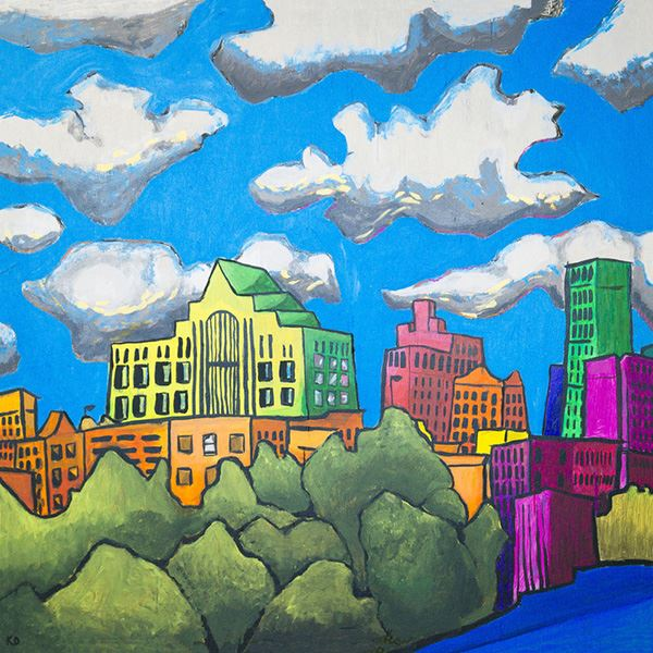 Downtown Skyline, student artwork